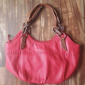 THE SAK red leather hobo